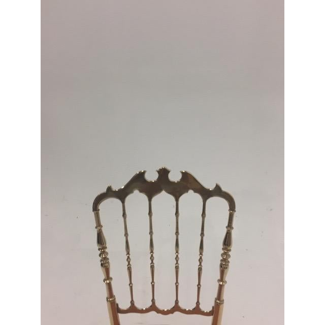 1960s Vintage Italian Solid Brass Chiavari Spindle Back Chair For Sale In Philadelphia - Image 6 of 9