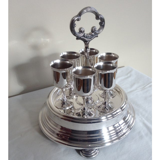 Taunton Silver Cordials & Caddy Holder For Sale - Image 4 of 10