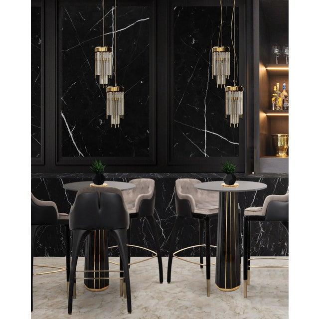 Black Covet Paris Charla Bar Chair For Sale - Image 8 of 9