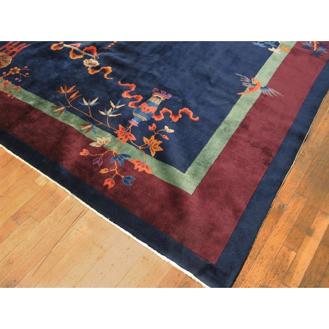Art Deco Antique Chinese Art-Deco Rug For Sale - Image 3 of 6