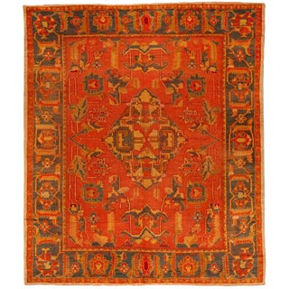 Antique Mid-19th Century Turkish Oushak Carpet For Sale