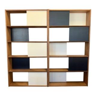 1950's Mid Century Modern Hinged Bookcase Room Divider by Evans Clark for Glenn of California For Sale