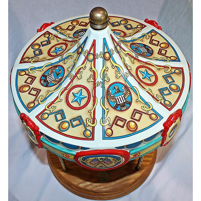 Tabletop Carousel by Fraley - Image 3 of 9