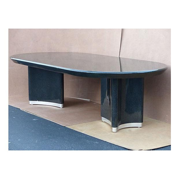 Karl Springer Style Dining Table For Sale - Image 4 of 10