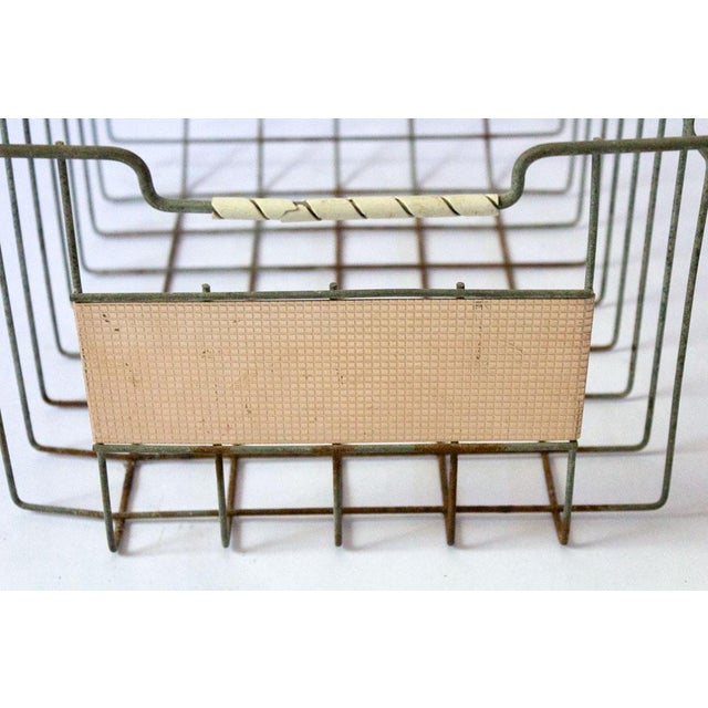 Vintage Mid Century Wire Basket For Sale - Image 9 of 13