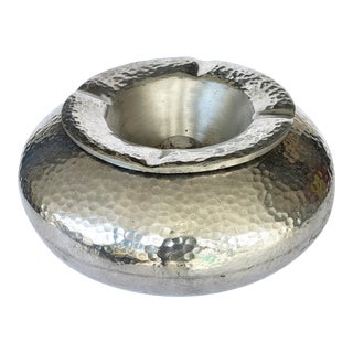Overscale Hammered Aluminum Cigar/Cigarette Ashtray For Sale