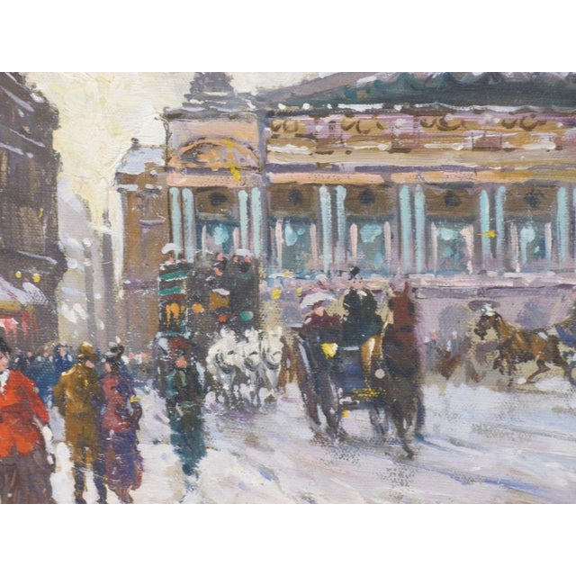 1950s Vintage Francois Gerome Parisian Scene Paintings - A Pair For Sale In Miami - Image 6 of 12