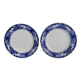 Flow Blue Athol Plates, Pair For Sale