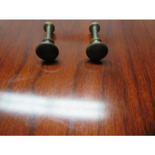 Traditional Henkel Harris Black Cherry Virginia Galleries Sideboard Handles - a Pair For Sale - Image 3 of 5