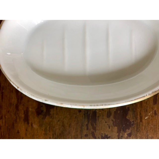 Vintage Neiman Marcus Malachite Soap Dish For Sale - Image 4 of 5