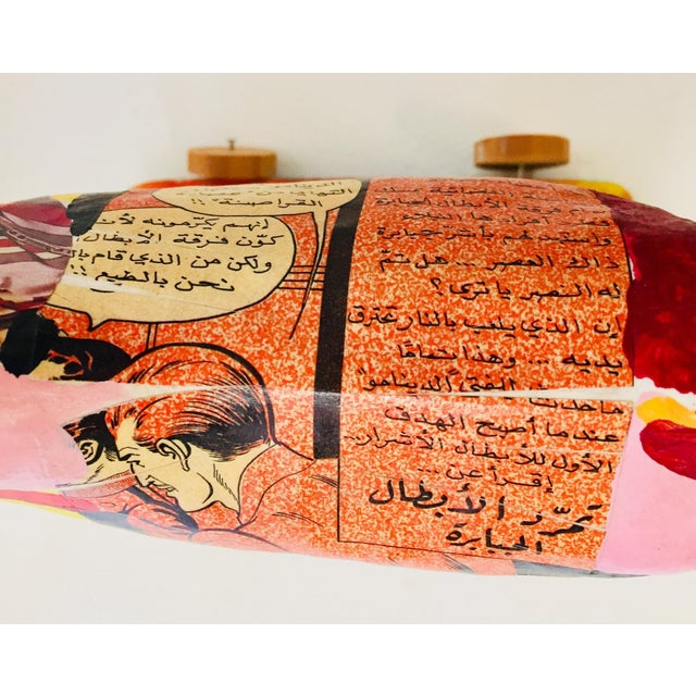Papier Mâché Sculpture of a Horse in Polychrome Arabic Writing For Sale - Image 11 of 12
