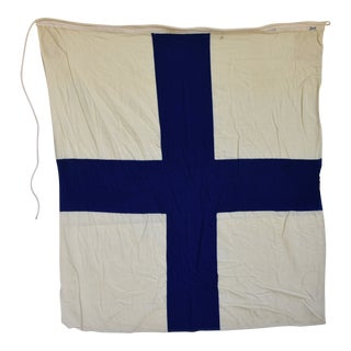 "Vintage Maritime Nautical Naval Signal ""X"" Flag - 50"" X 45"""