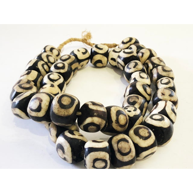 """African Jumbo Bone Trading Beads 30"""" For Sale In New York - Image 6 of 8"""