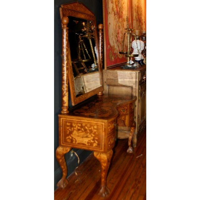 Mid 19th Century Late 19th Century Dutch Marquetry Dressing Table For Sale - Image 5 of 11