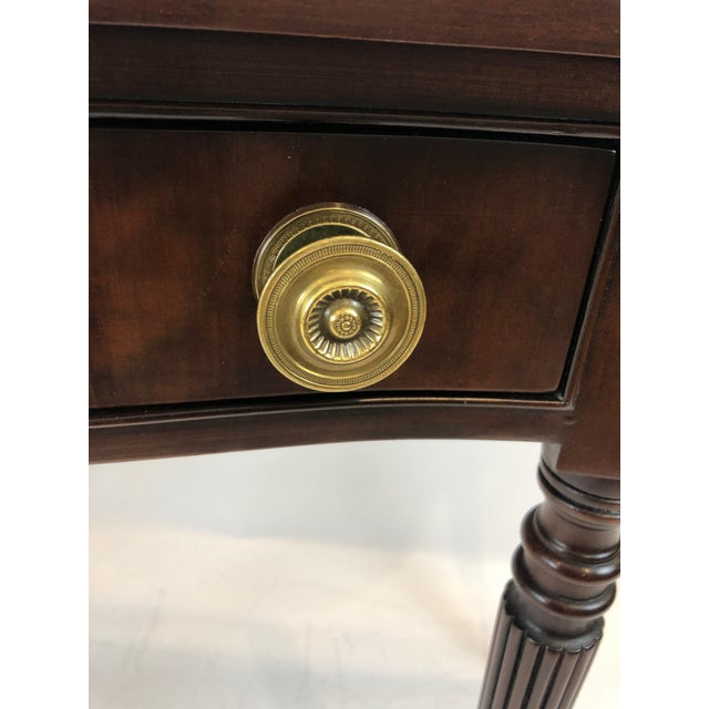 Federal Traditional Federal Style Cherry Console Table For Sale - Image 3 of 9