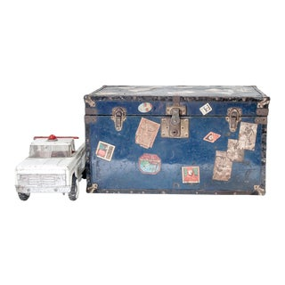 1930's Child's Steamer Trunk For Sale