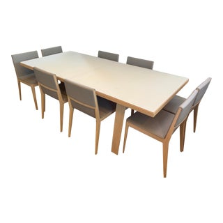 Mid-Century Modern B&b Italia Hans Dining Set - 9 Pieces For Sale