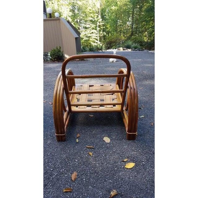 Vintage Paul Frankl Style Rattan Furniture - Set of 5 - Image 5 of 9
