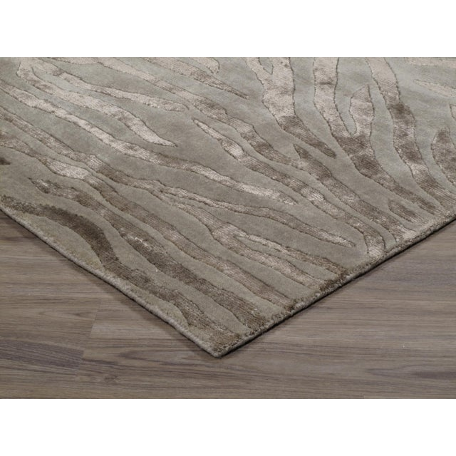 Contemporary Stark Studio Rugs Contemporary New Oriental Indian Wool Rug - 8′10″ × 12′1″ For Sale - Image 3 of 5