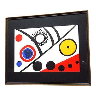 Vintage Mid 20th C. Ltd. Ed Lithograph From Derriere Le Miroir No. 221-1976-Alexander Calder For Sale