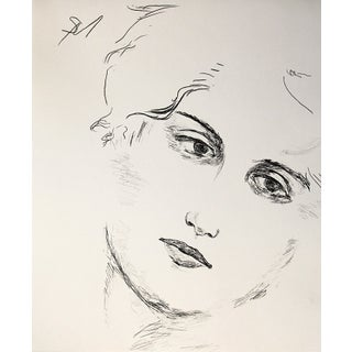 """""""Face"""" Contemporary Charcoal Drawing by Sarah Myers For Sale"""