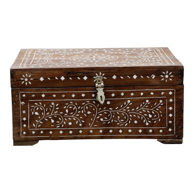 Anglo Indian Bone Inlaid Box For Sale