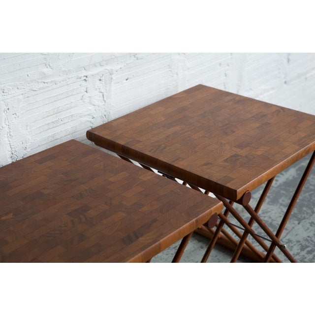 Folding End Tables - Set of 2 - Image 7 of 10
