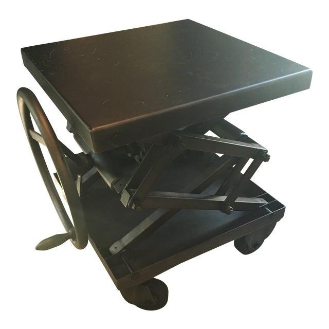 Restoration Hardware Industrial Scissor Lift Table