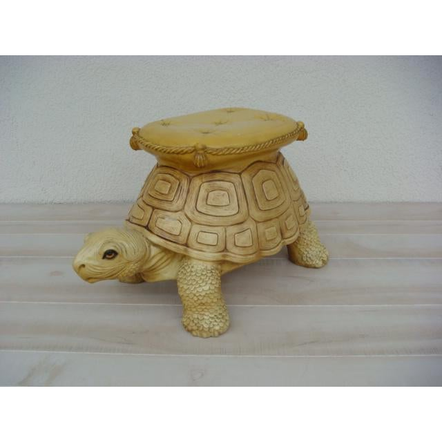 Mid-Century Turtle Form Garden Stool Bench Ottoman For Sale - Image 13 of 13