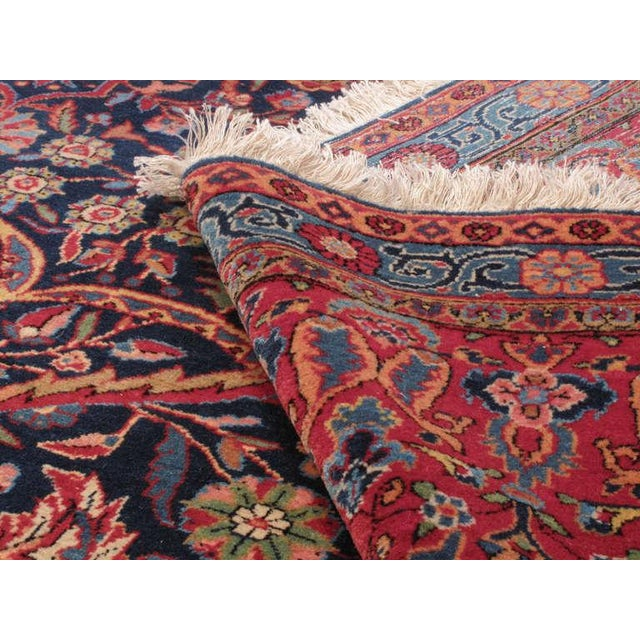 Antique Kashan Carpet For Sale In New York - Image 6 of 6