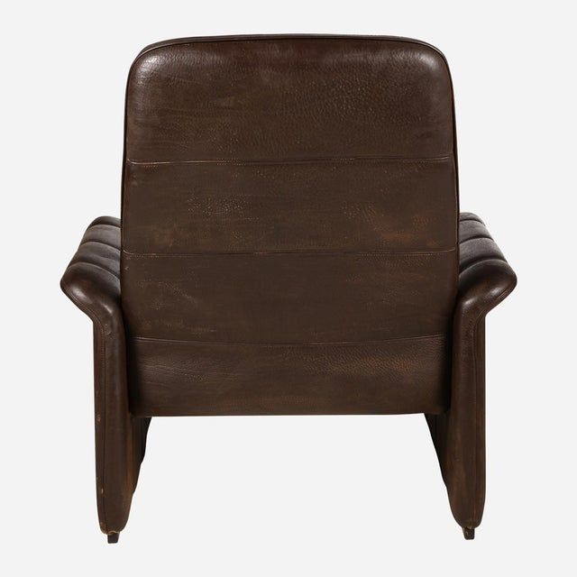 De Sede Brown Leather Recliner For Sale - Image 4 of 5