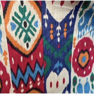 Richloom Platinum Fabrics Kachina Garden Ikat Print Drapery Fabric For Sale