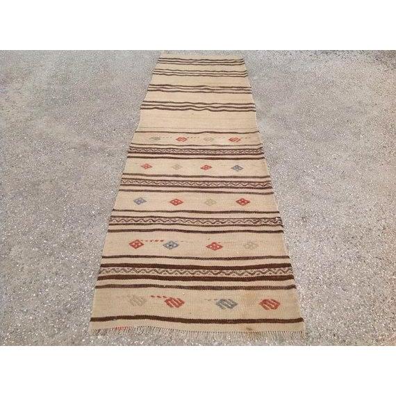 "Vintage Striped Kilim Runner - 2'1"" X 7'6"" - Image 3 of 5"