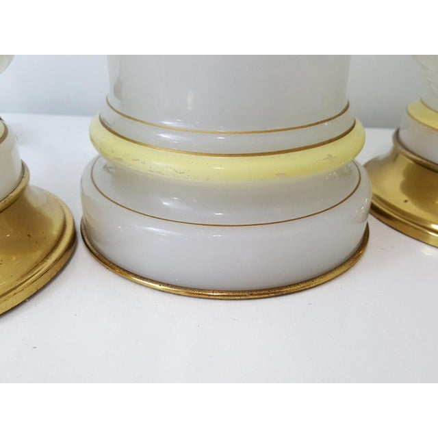 Warren Kessler Opaline Glass Lamps - Set of 3 For Sale - Image 6 of 10
