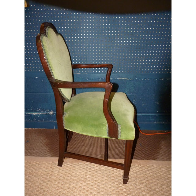Mahogany Heart Shieldback Chairs - Set of 12 - Image 8 of 9