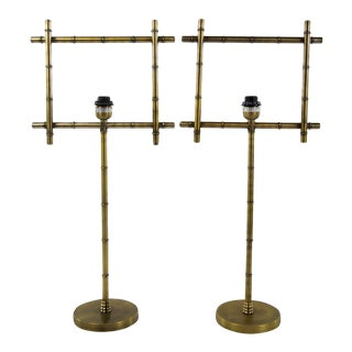 Brass Ellington Table Lamps - A Pair