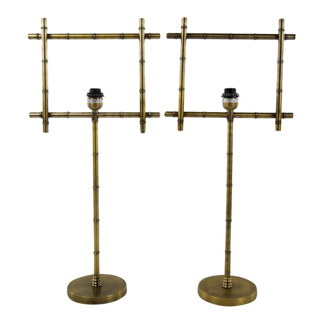 Brass Ellington Table Lamps - A Pair - Image 1 of 7