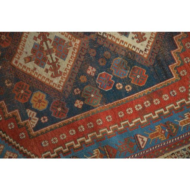 """Antique Afshar Square Rug- 3'6"""" x 4'5"""" - Image 3 of 7"""