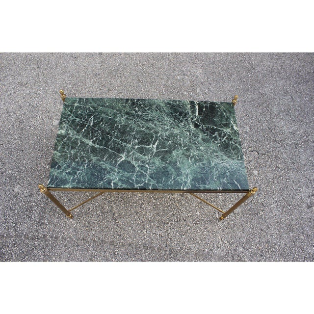 Green 1940s Vintage French Maison Jansen Coffee Table For Sale - Image 8 of 13
