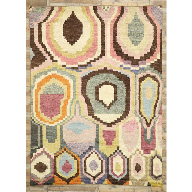 Textile New Contemporary Moroccan Postmodern Style Rug - 10′3″ × 13′11″ For Sale - Image 7 of 9