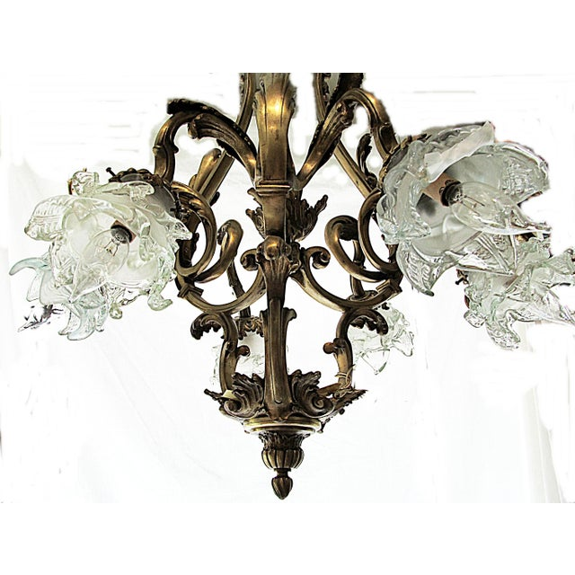 Art Nouveau French Bronze Dore Fixture For Image 3