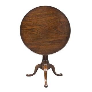 English George II Walnut Tripod Table For Sale