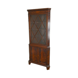 Custom Quality 1940s Mahogany Corner Cabinet For Sale