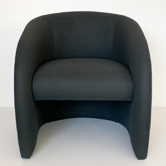 Directional Pair of Directional Fully Upholstered Barrel Lounge Chairs For Sale - Image 4 of 13
