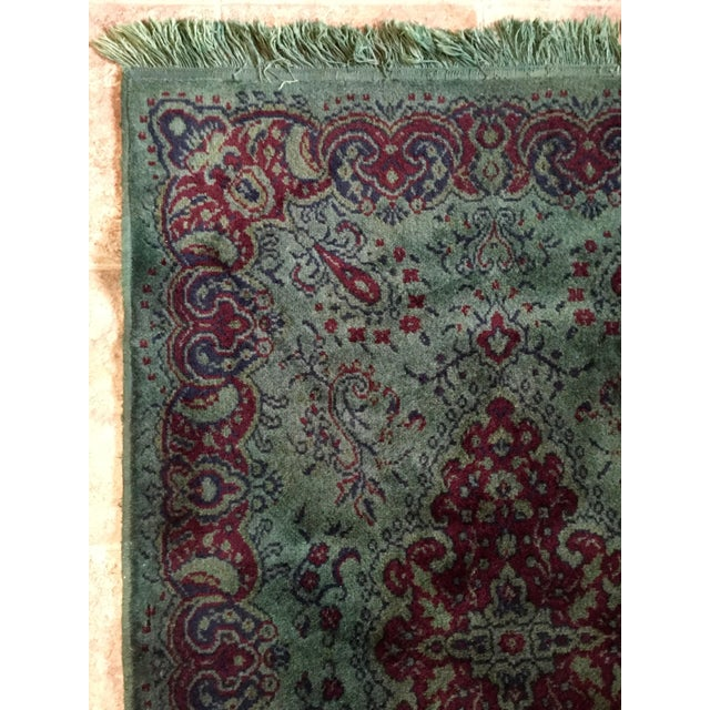Vintage Over Dyed Distressed Green Wool Rug - 3 x 5 - Image 3 of 7