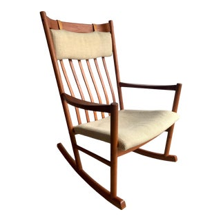 Hans Wegner for Tarm Stole Rocking Chair For Sale