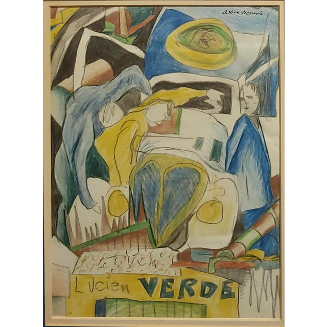 Abstract Arthur Secunda - Car Accident - Original Painting For Sale - Image 3 of 8