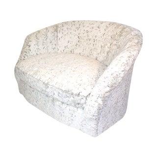 Vintage Baughman Style Oversized Swivel Love Seat