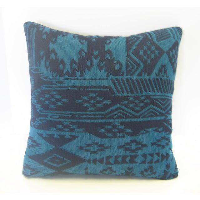 Boho Chic Blue Turkish Kilim Pillow For Sale - Image 3 of 4