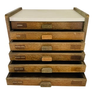 Vintage Medical Dental Cabinet Drawers Tabletop Storage Box For Sale